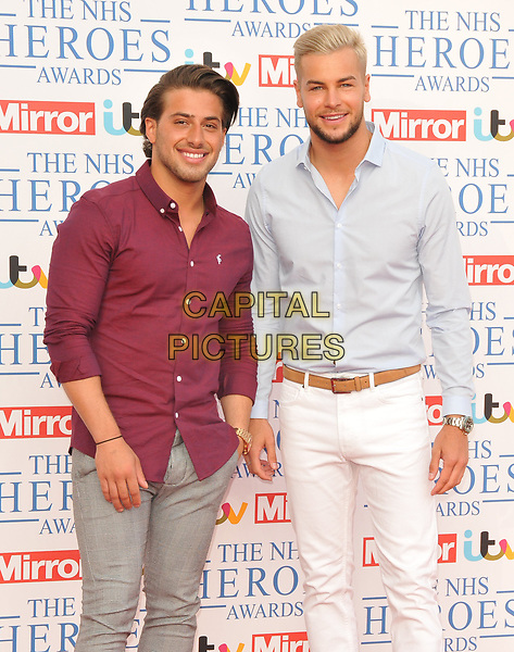 Kem Cetinay and Chris Hughes at the NHS Heroes Awards 2018, London Hilton on Park Lane Hotel, Park Lane, London, England, UK, on Monday 14 May 2018.<br /> CAP/CAN<br /> &copy;CAN/Capital Pictures