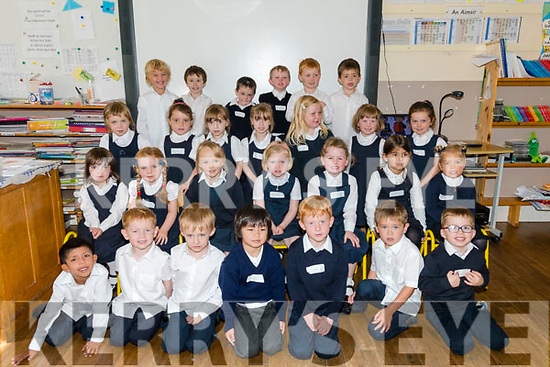 Bunscoil an Chlochar, Dingle, Naíonan Bheaga pupils on their first day at school.