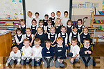 Bunscoil an Chlochar, Dingle, Naíonan Bheaga pupils on their first day at school.