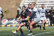 Towson, MD - March 5, 2017: Florida Gators Sydney Pirreca (44) tries to get the groundball during game between Towson and Florida at  Minnegan Field at Johnny Unitas Stadium  in Towson, MD. March 5, 2017.  (Photo by Elliott Brown/Media Images International)