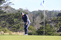 Rory McIlroy (NIR) chips onto the 2nd green at Spyglass Hill during Thursday's Round 1 of the 2018 AT&amp;T Pebble Beach Pro-Am, held over 3 courses Pebble Beach, Spyglass Hill and Monterey, California, USA. 8th February 2018.<br /> Picture: Eoin Clarke | Golffile<br /> <br /> <br /> All photos usage must carry mandatory copyright credit (&copy; Golffile | Eoin Clarke)