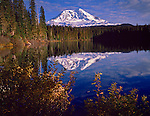 Gifford Pinchot National Forest, WA<br /> Mount Adams and reflections on Takhlakh Lake