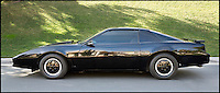 BNPS.co.uk (01202 558833)<br /> Pic: Juliens/BNPS<br /> <br /> ***Please use full byline***<br /> <br /> 1986 DH PONTIAC FIREBIRD TWO DOOR HATCHBACK KITT - Hasselhoff's personal version of the Kitt car from the series 'Knightrider' made and presented to him by fans of the 1982 TV series. Estimated at &pound;20-40,000. <br /> <br /> The futuristic talking sportscar driven by TV legend David Hasselhoff in cult show Knight Rider is among a &pound;100,000 archive of the star's possessions up for sale.<br /> <br /> Hasselhoff has also put his iconic red lifeguard jacket from hit programme Baywatch on the market alongside a bizarre, oversized statue of himself.<br /> <br /> The actor, known as The Hoff, shot to fame in 1982 in Knight Rider as crime fighter Michael Knight.<br /> <br /> Knight's partner was an artificially intelligent supercar called Knight Industries Two Thousand - or KITT for short.