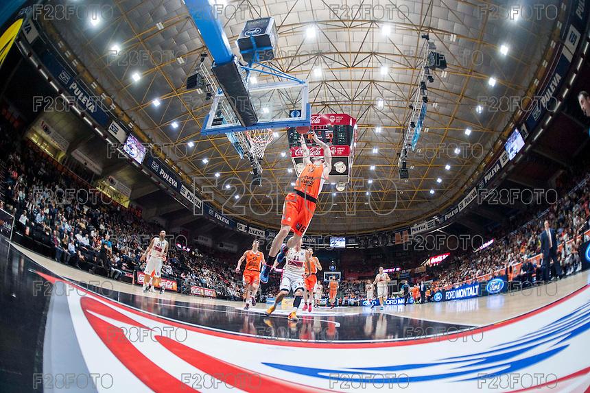 VALENCIA, SPAIN - NOVEMBER 3:Guillem Vives  during EUROCUP match between Valencia Basket Club and CAI Zaragozaat Fonteta Stadium on November 3, 2015 in Valencia, Spain