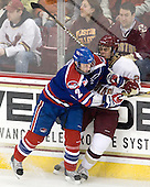 Chris Ickert (Lowell - 2), Steven Whitney (BC - 21) - The Boston College Eagles defeated the visiting University of Massachusetts-Lowell River Hawks 5-3 (EN) on Saturday, January 22, 2011, at Conte Forum in Chestnut Hill, Massachusetts.