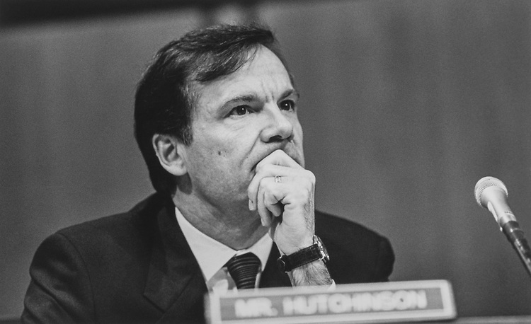 Sen. Tim Hutchinson, R-Ark., in January 1997. (Photo by Laura Patterson /CQ Roll Call via Getty Images)