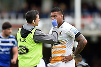 Nathan Hughes of Wasps is treated. Gallagher Premiership match, between Bath Rugby and Wasps on May 5, 2019 at the Recreation Ground in Bath, England. Photo by: Patrick Khachfe / Onside Images