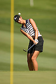 March 28, 2004; Rancho Mirage, CA, USA;  14 year old amateur Michelle Wie chips up onto the green on the 1st  hole during the final round of the LPGA Kraft Nabisco golf tournament held at Mission Hills Country Club.  Wie finished the day with a 1 under par 71.  Her overall score of 7 under par 281 was low enough to win low amateur honors and 4th place overall.<br />