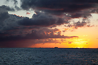 Sunset looking out towards French Cap<br /> U.S. Virgin Islands