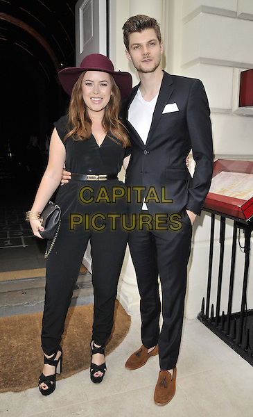 LONDON, ENGLAND - JUNE 15: Tanya Burr &amp; Jim Chapman attend the Velsvoir s/s 2015 presentation &amp; party, London Colllections : Men, Sketch, Conduit St., on Sunday June 15, 2014 in London, England, UK.<br /> CAP/CAN<br /> &copy;Can Nguyen/Capital Pictures