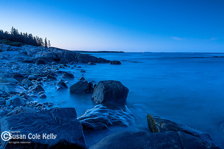 Evening on the Schoodic Peninsula of Acadia National Park, Maine, USA