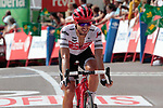 Gianluca Brambilla (ITA) Trek-Segafredo finishes in 8th place at the end of Stage 6 of La Vuelta 2019 running 198.9km from Mora de Rubielos to Ares del Maestrat, Spain. 29th August 2019.<br /> Picture: Colin Flockton | Cyclefile<br /> <br /> All photos usage must carry mandatory copyright credit (© Cyclefile | Colin Flockton)