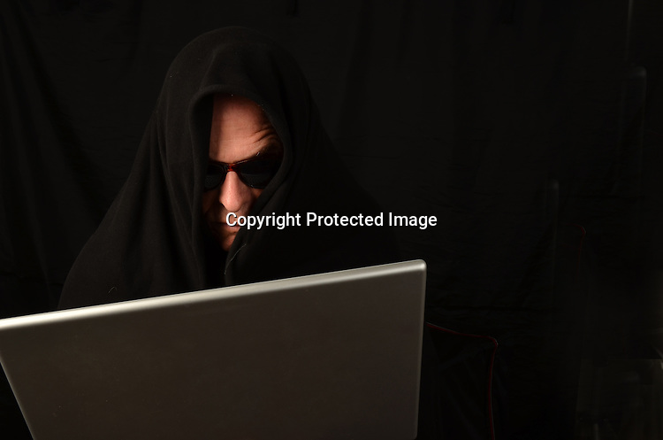 Stock photo of computer hacker