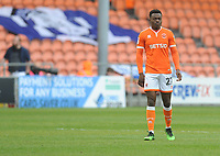 Blackpool's Marc Bola<br /> <br /> Photographer Kevin Barnes/CameraSport<br /> <br /> The EFL Sky Bet League One - Blackpool v Gillingham - Saturday 4th May 2019 - Bloomfield Road - Blackpool<br /> <br /> World Copyright © 2019 CameraSport. All rights reserved. 43 Linden Ave. Countesthorpe. Leicester. England. LE8 5PG - Tel: +44 (0) 116 277 4147 - admin@camerasport.com - www.camerasport.com