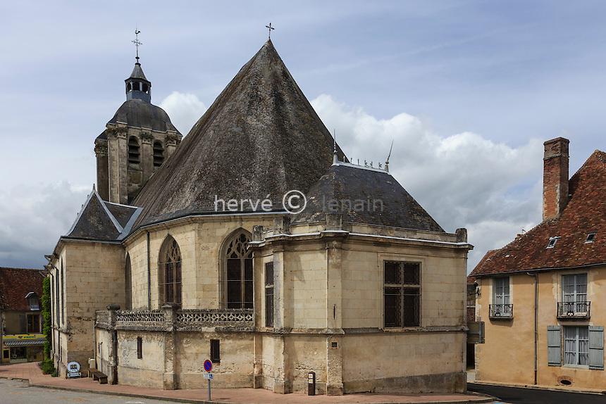France, Orne (61), le Perche, Bellême, église Saint-Sauveur // France, Orne, le Perche, Belleme, church Saint Sauveur