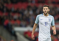 Adam Lallana (Liverpool) of England during the International Friendly match between England and Spain at Wembley Stadium, London, England on 15 November 2016. Photo by Andy Rowland.