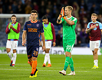 Burnley's Joe Hart applauds the fans after the match<br /> <br /> Photographer Alex Dodd/CameraSport<br /> <br /> UEFA Europa League - Third Qualifying Round 2nd Leg - Burnley v Istanbul Basaksehir - Thursday 16th August 2018 - Turf Moor - Burnley<br />  <br /> World Copyright © 2018 CameraSport. All rights reserved. 43 Linden Ave. Countesthorpe. Leicester. England. LE8 5PG - Tel: +44 (0) 116 277 4147 - admin@camerasport.com - www.camerasport.com