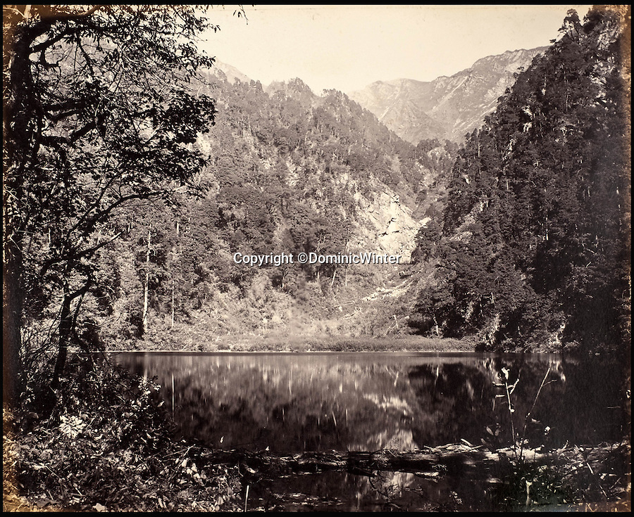 BNPS.co.uk (01202 558833)<br /> Pic: DominicWinter/BNPS<br /> <br /> Mountain with lakes.<br /> <br /> Fascinating 150 year-old photographs of India taken in the aftermath of the failed mutiny have sold for almost £8,000 at auction.<br /> <br /> The images, which date from 1863 to 1870, capture native soldiers with their weapons and picturesque landscapes and were taken by celebrated 19th century photographer Samuel Bourne.<br /> <br /> They went for a hammer price of £6,400 to a private collector from America who bid online with extra fees pushing the overall price above £7,800.<br /> <br /> Together with Charles Shepherd, Bourne set up photo studio Bourne & Shepherd first in Simla in 1863 and later in Calcutta.