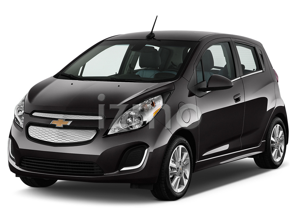 Front three quarter view of a 2014 Chevrolet Spark EV