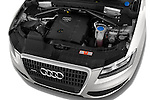 High angle engine detail of a 2009 - 2012 Audi Q5 Ambiente 5 Door Suv 4WD