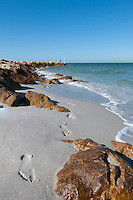 Footprint in sand at Captiva Island, Florida, USA. Photo by Debi Pittman Wilkey
