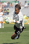 25 April 2009: Karina LeBlanc (23) of the Los Angeles Sol saves a shot in the box.  Saint Louis Athletica tied the visiting Los Angeles Sol 0-0  in a regular season Women's Professional Soccer game at Robert R. Hermann Stadium at St. Louis University, St. Louis, Missouri.