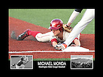 Photo collage of Michael Monda during his college baseball career at Washington State University.