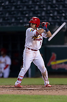 Springfield Cardinals second baseman Irving Lopez (11) during a Texas League game against the Amarillo Sod Poodles on April 25, 2019 at Hammons Field in Springfield, Missouri. Springfield defeated Amarillo 8-0. (Zachary Lucy/Four Seam Images)