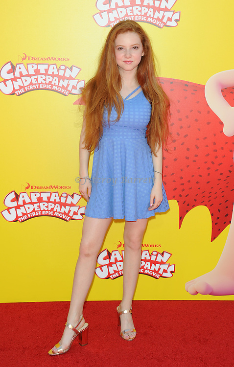 Francesca Capaldi arriving at the Los Angeles premiere of Captain Underpants, held at the Regency Village Theater in Westwood California on May 21, 2017