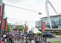 Picture by Simon WilkinsonSWpix.com - 16/05/2017 - Cycling - Tour Series Round 4, Wembley - Matrix Fitness Grand Prix - The womens race passes by Wembley stadium.