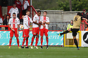 Lloyd James of Leyton Orient fires in a free-kick<br />  - Stevenage v Leyton Orient - Sky Bet League 1 - Lamex Stadium, Stevenage - 17th August, 2013<br />  © Kevin Coleman 2013