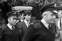Pix: Copyright Anglia Press Agency/Archived via SWpix.com. The Bamber Killings. August 1985. Murders of Neville and June Bamber, daughter Sheila Caffell and her twin boys. Jeremy Bamber convicted of killings serving life...copyright photograph>>Anglia Press Agency>>07811 267 706>>..Jeremy Bamber leaves court. no date..ref 0002 neg 12....