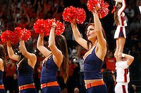 Virginia dancers perform during the game Wednesday in Charlottesville, VA. Virginia defeated Tennessee 46-38.