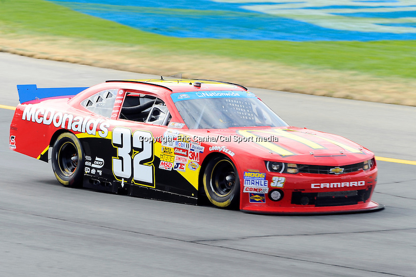 """July 13, 2013 - Loudon, New Hampshire U.S. - Nationwide Series driver Kyle Larson (32)  racing in the NASCAR Nationwide Series CNBC Prime's """"The Profit"""" 200 race being held at the New Hampshire Motor Speedway in Loudon, New Hampshire.   Eric Canha/CSM"""
