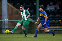 Max Bolton of Romford during Romford vs Basildon United, Bostik League Division 1 North Football at Rookery Hill on 24th November 2018
