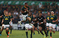 PRETORIA, SOUTH AFRICA - OCTOBER 06: Aphiwe Dyantyi of South Africa can't hold a high ball during the Rugby Championship match between South Africa Springboks and New Zealand All Blacks at Loftus Versfeld Stadium. on October 6, 2018 in Pretoria, South Africa. Photo: Steve Haag / stevehaagsports.com