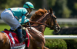 SARATOGA SPRINGS, NY- AUGUST 04: Uni with Iran Ortiz Jr wins theDe La Rose Stakes at Saratoga Racecourse on August 4, 2018 in Saratoga Springs, New York.(Photo by Alex Evers/Eclipse Sportswire)