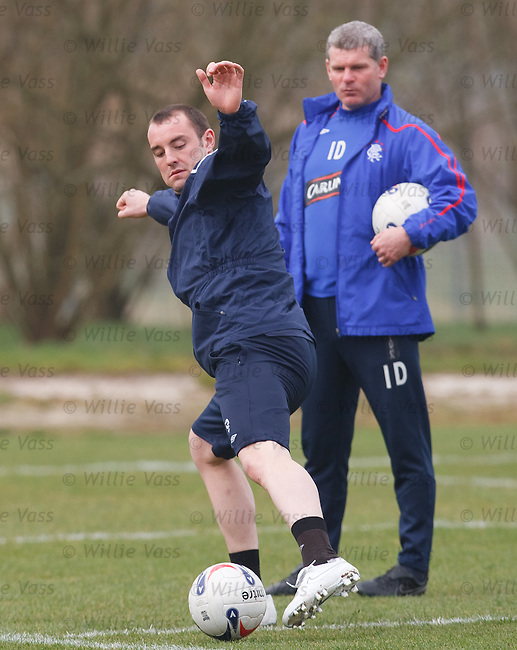 Kris Boyd and Ian Durrant at training