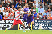 Jake Gray of Luton Town breaks free from his marker during the Sky Bet League 2 match between Stevenage and Luton Town at the Lamex Stadium, Stevenage, England on 20 August 2016. Photo by Liam Smith.