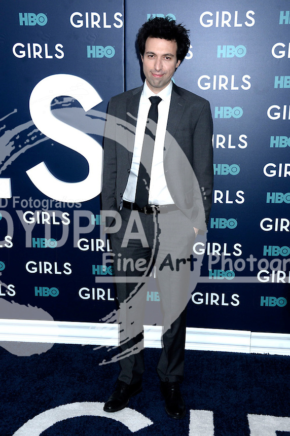 Alex Karpovsky attends the 'Girls' premiere at Alice Tully Hall, Lincoln Center on February 2, 2017 in New York City.