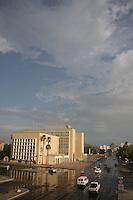 Muse y biblioteca de la Universidad de Sonora.<br />  Esta tarde cayeron sobre algunas colonias del centro de la ciudad un lluvia breve y repentina lluvia