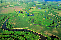 Meandering river with oxbow lakes on Big Sioux River near Westfield, Iowa, AGPix_0571.