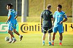 (L-R)   Alberto Zaccheroni, Yuto Nagatomo (JPN), JUNE 12, 2014 - Football / Soccer : Japan's national soccer team training session at Japan's team base camp in Itu Brazil. (Photo by Kenzaburo Matsuoka/AFLO)
