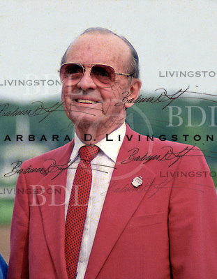 Woody Stephens photographed at Saratoga Race Course during the 1989 meeting