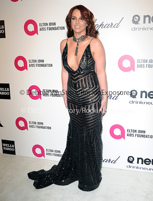 Britney Spears attends the 2014 Elton John AIDS Foundation Academy Awards Viewing Party in West Hollyood, California on March 02,2014                                                                               © 2014 Hollywood Press Agency