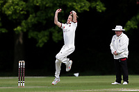 B Allison in bowling action for Brentwood during Brentwood CC vs Wanstead and Snaresbrook CC, Shepherd Neame Essex League Cricket at The Old County Ground on 11th May 2019
