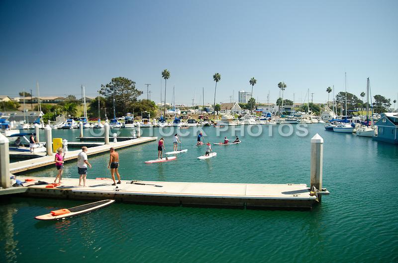 Paddle Boarding in the Oceanside Harbor