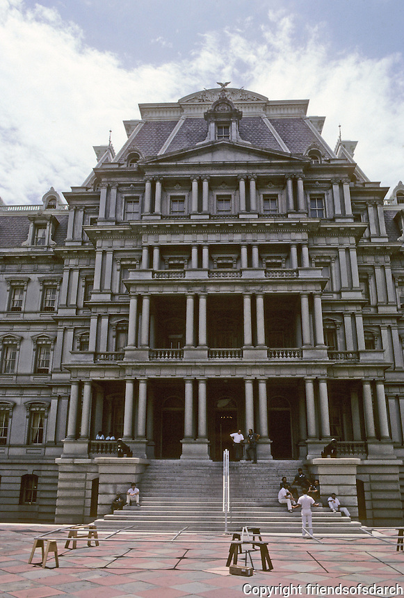 Washington D.C. :  Old State-Navy-War Dept. Building. Photo '85.