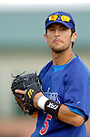 6 March 2006: Nomar Garciaparra, first baseman for the Los Angeles Dodgers, prior to a Spring Training game against the Washington Nationals. The Nationals and Dodgers played to a scoreless tie at Holeman Stadium, in Vero Beach Florida...Mandatory Photo Credit: Ed Wolfstein..