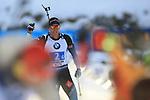 15/12/2019, Hochfilzen, Austria. Biathlon World Cup IBU 2019 Hochfilzen.<br /> Men 4 X 7.5 km Relay race,  Quentin Fillon Maillet (FRA)